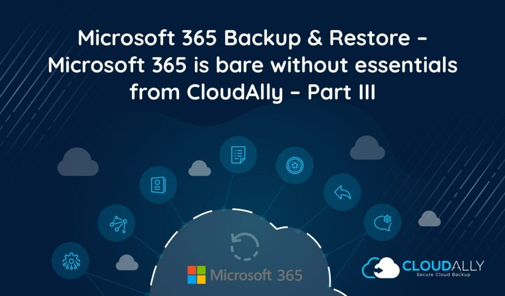 Office 365 backup and restore