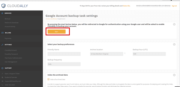 Backup google contacts