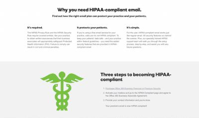 hipaa compliance email