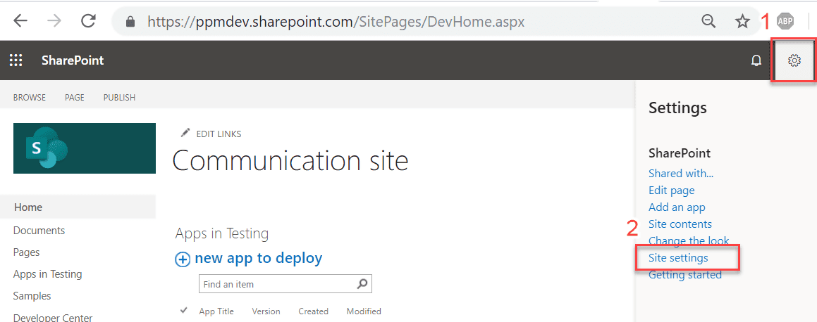 Go to Sharepoint's Site Settings