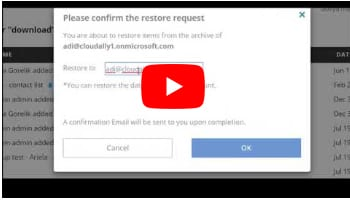 G Suite Cross-User Restore