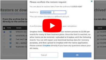 Dropbox Cross-User Restore
