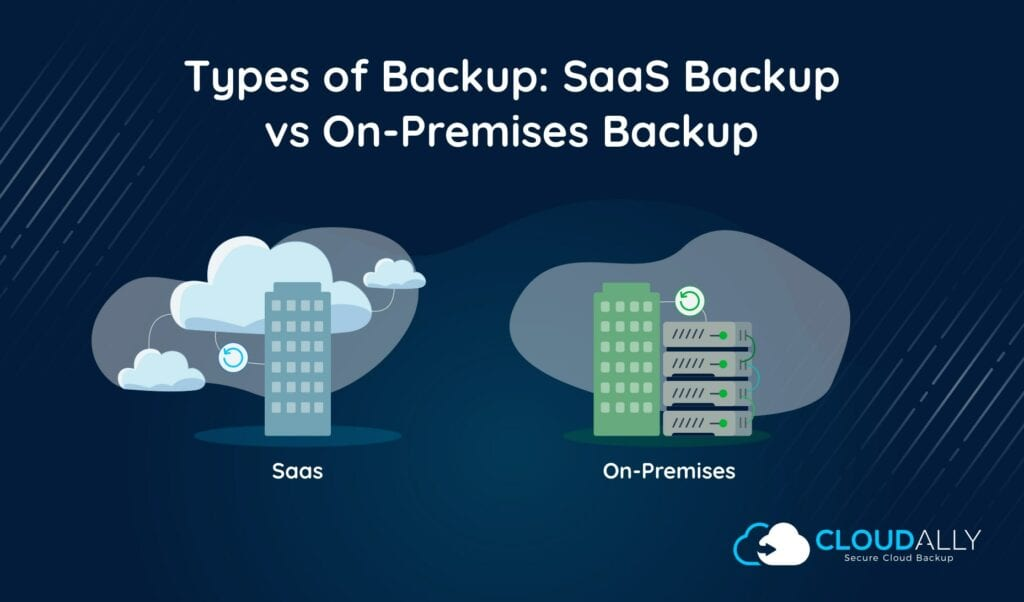 SaaS backup vs on-premises backup