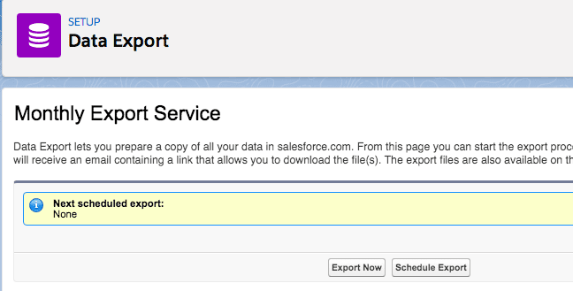 Salesforce Data Recovery: Data Export Wizard Steps
