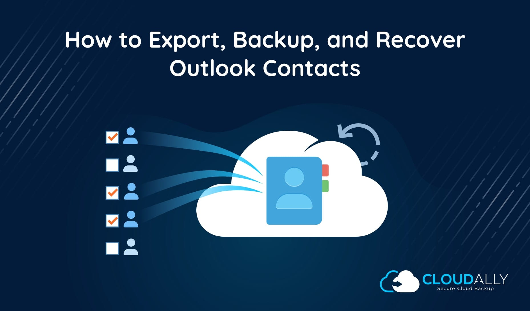 backup and recover microsoft 365 contacts