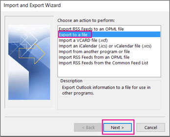 Export Outlook Contacts to a .CSV file