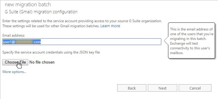 Migration Batch: Migrating from G Suite to Office 365