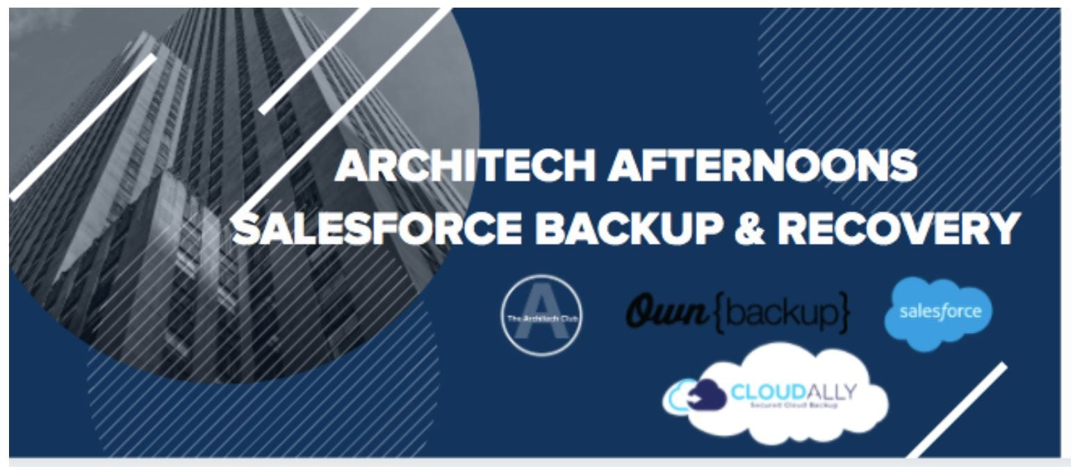 Salesforce Webinar data backup and recovery