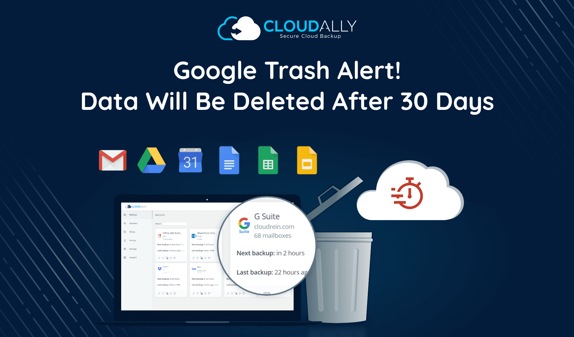 Google Trash Alert