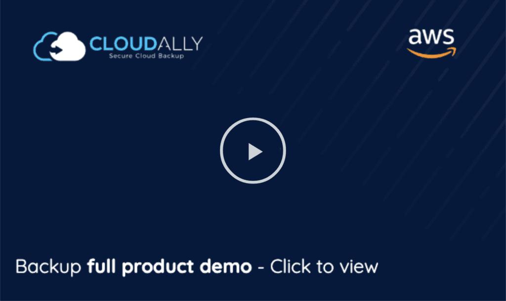 Backup product demo